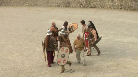 roman gaul fight 10 Stock Video Footage