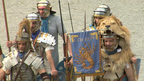 roman praetorian 02 Stock Video Footage