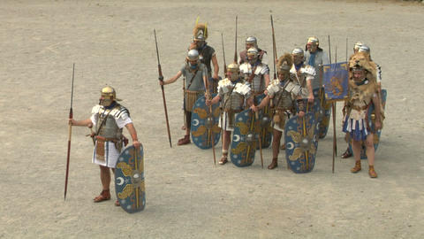 roman praetorian 04 Stock Video Footage