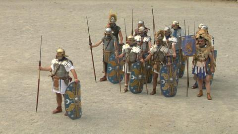 roman praetorian 04 Stock Video Footage