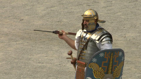 roman praetorian 06 Stock Video Footage