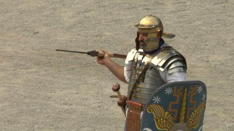 roman praetorian 06 Stock Video Footage
