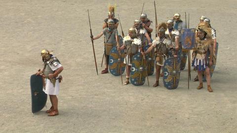 roman praetorian 08 Stock Video Footage