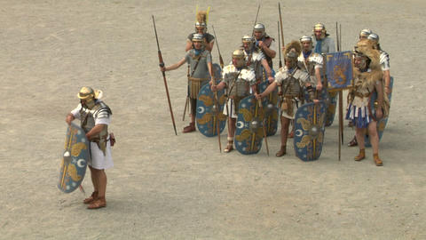 roman praetorian 08 Stock Video Footage