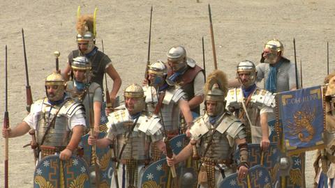 roman praetorian 12 Stock Video Footage