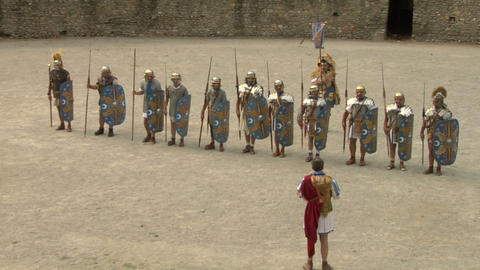 roman praetorian deployment 02 Stock Video Footage