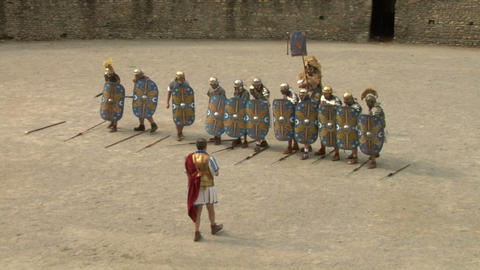 roman praetorian deployment 04 Stock Video Footage
