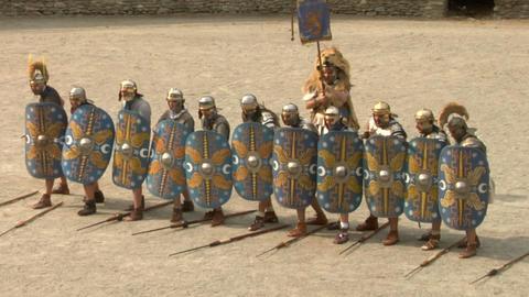 roman praetorian deployment 06 Stock Video Footage