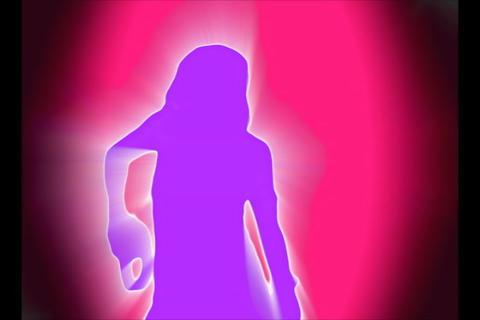 Pink Purple Silhouette Dancer Stock Video Footage