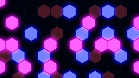 Hexagon 3 Ba 2 HD Stock Video Footage