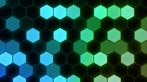 Hexagon 3 Ba 4 HD Stock Video Footage