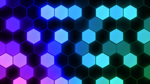 Hexagon 3 Ba 4 HD Stock Video Footage
