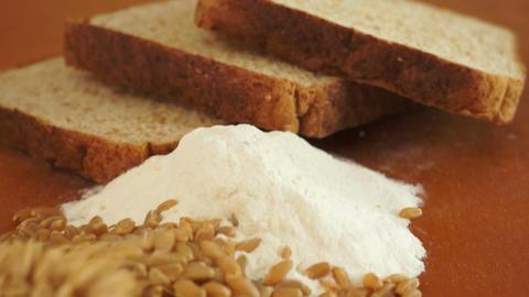 Wheat Grain Flour Bread Dolly Shot Live Action