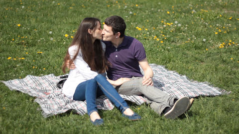 man and woman in the park Stock Video Footage