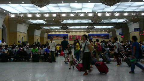 The waiting hall of train station,Chinese o China Footage