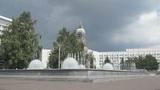 Krasnoyarsk City Fountain 04 Footage