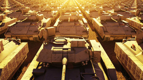 Military Tanks, Seamless Loop Stock Video Footage