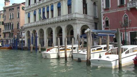 Venice, Italy. Canals Gondolas Bridges Footage