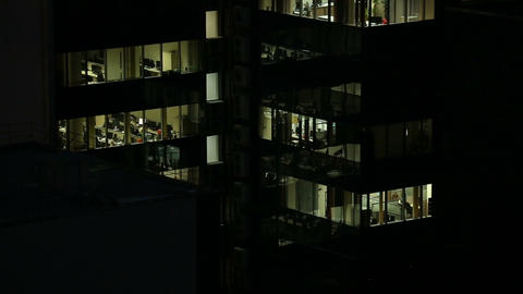 The windows of the office building, vertical panorama Footage