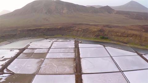 Aerial view of Salinas in Sal Cape Verde - Cabo Verde Footage