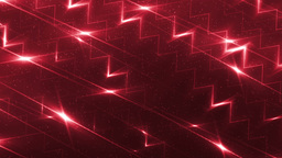 Energy red waves particles and lines Animation