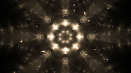 Abstract Gold Background Fractal Snowflakes Animation