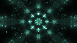 Abstract Neon Background Fractal Snowflakes Animation