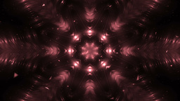 Abstract Red Background Fractal Snowflakes Animation