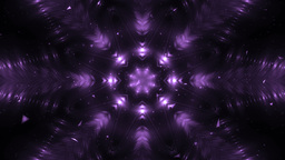 Abstract Violet Background Fractal Snowflakes Animation