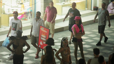 KOH SAMUI, THAILAND - NOVEMBER 9, 2014: Whore waiting for customer on street Tha Footage