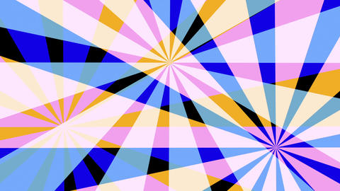 Retro Pinwheels Psychedelic Hypnotic VJ Background loop 2 pastel Animation