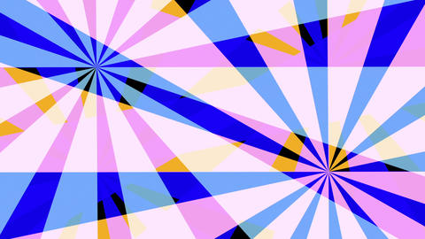 Retro Pinwheels Psychedelic Hypnotic VJ Background loop 3 pastel Animation
