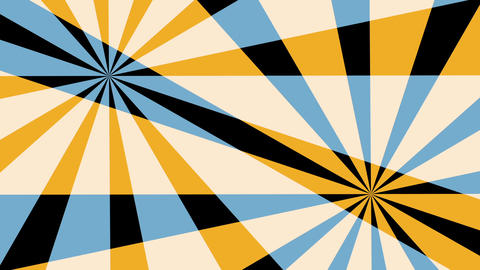Retro Pinwheels Psychedelic Hypnotic VJ Background loop 5 yellow Animation