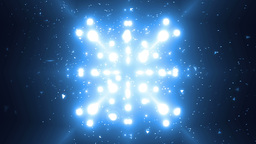 Abstract Blue Background Fractal Sun. VJ Loops Animation