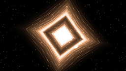 Orange Motion Background With Animated Squares And Particles Animation
