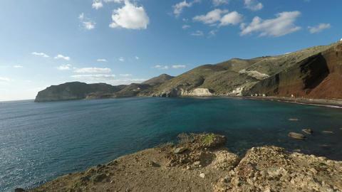 santorini coast Footage