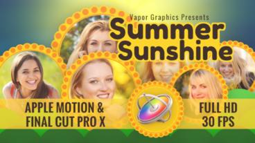Summer Sunshine Apple Motion Template