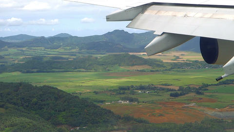 Approach at Mauritius Airport Footage