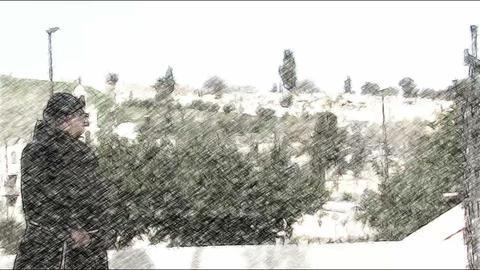 Priest . old city. Jerusalem Footage