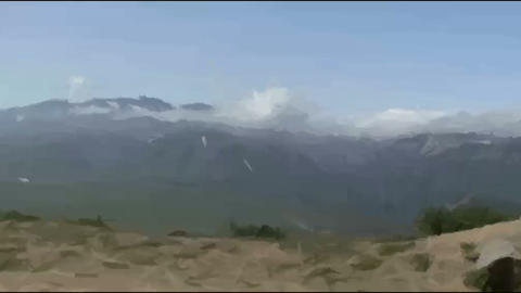 Live Painting.mountain. Kamchatka. In motion Footage