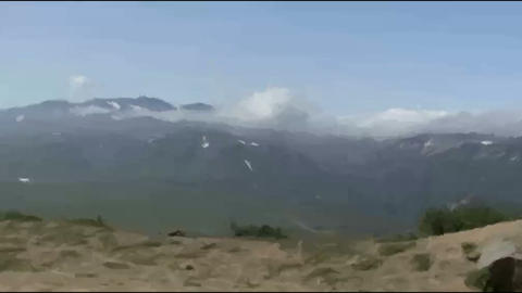 Live Painting.mountain. Kamchatka. In motion Stock Video Footage