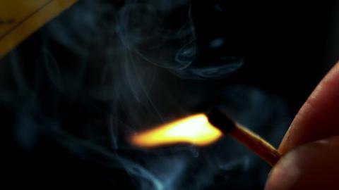 Match lighting on black background Live Action