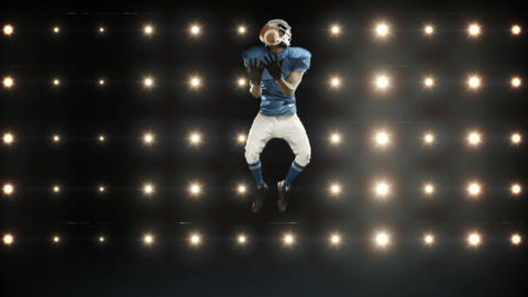 American football player against flashing lights Animation