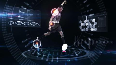 Futuristic technology tracking athletes movements Animation