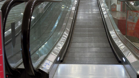 Escalator in mall Live Action