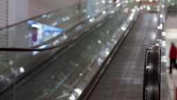 Escalator in mall Footage