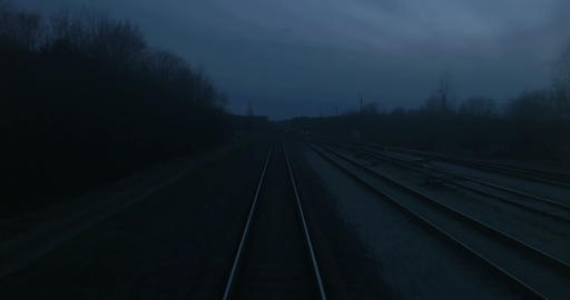 Train Passing Through Countryside Footage