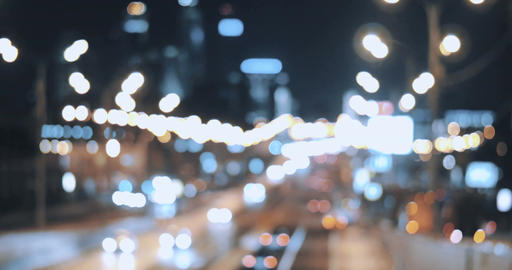 City At Night, Bokeh Background Footage