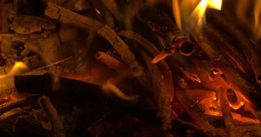 Wooden Sticks in Campfire Footage