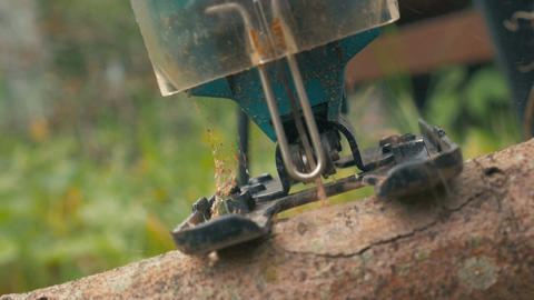 Chainsawing Small Log Footage